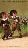 Chromos - Chocolat Guérin-Boutron - Paris - Enfants - Je Vais Avoir L'oeil Noir  - E 5136 - Guerin Boutron