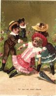 Chromos - Chocolat Guérin-Boutron - Paris - Enfants - Tu Lui As Fait Peur - Parapluie - R 5138 - Guerin Boutron