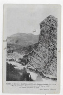 (RECTO / VERSO) CASTELLANE - LE ROC ET LE VERDON - CPA VOYAGEE - Castellane