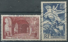 France N° 661 Et 669  Obl. - Used Stamps