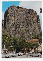 (RECTO / VERSO) CASTELLANE - LE ROC ET LA CHAPELLE DU ROC - VIEILLES VOITURES - RENAULT DAUPHINE - CPSM GF - Castellane