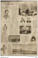 Le Général Ortéga - Général Garibaldi - Alexandre Dumas - Page Original 1860 - Historische Documenten