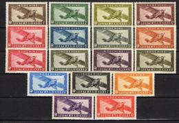 INDOCHINE ( AERIEN ) : Y&T  N°  1/14  TIMBRES  NEUFS  SANS  TRACE  DE  CHARNIERE . A  SAISIR . - Airmail