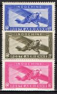 INDOCHINE ( AERIEN ) : Y&T  N°  17/19  TIMBRES  NEUFS  SANS  TRACE  DE  CHARNIERE . A  SAISIR . - Airmail