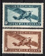INDOCHINE ( AERIEN ) : Y&T  N°  46/47  TIMBRES  NEUFS  SANS  TRACE  DE  CHARNIERE . A  SAISIR . - Airmail