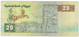 Egypte - Billet De 20 Pounds - P52c - Egypte