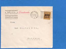 Allemagne Reich 1923 Lettre De Leipzig-Plagwitz (G2067) - Covers & Documents