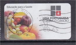 Portugal 2016 ATM Liga Contra Cancro Ligue Cancer League Against Krebs Medicine Doença Alimentação Frama Labels - Used Stamps