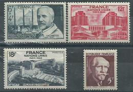 France N° 814-818-819-820 * Neuf - Unused Stamps