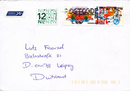 Netherlands Cover Sent To Germany 7-7-2002 Topic Stamps - Lettres & Documents