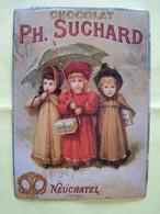 LA PUBLICITE. LES ENFANTS. CHOCOLAT SUCHARD. NEUCHATEL. SUISSE.  100_2483GRT - Plaques émaillées (après 1960)
