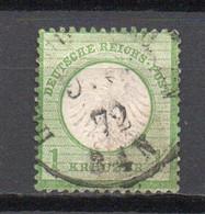 - ALLEMAGNE N° 7 Oblitéré - 1 K. Vert-jaune 1872 (petit écusson Sur L'aigle) - Cote 70,00 € - - Oblitérés