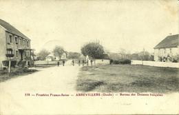 558 Frontière Franco-suisse Abbévillers Bureau Des Douanes Voyagé Du 15/12/1906 De Beaucourt - Altri Comuni