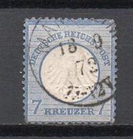 - ALLEMAGNE N° 10 Oblitéré - 7 K. Bleu 1872 (petit écusson Sur L'aigle) - Cote 120,00 € - - Oblitérés