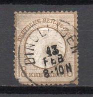 - ALLEMAGNE N° 11 Oblitéré - 18 K. Bistre 1872 (petit écusson Sur L'aigle) - Cote 500,00 € - - Used Stamps