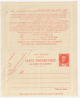 Entier Carte Lettre Pneumatique 3F Pétain Orange Storch I1 Yv 521-CLPP1  Formule Neuve Pliée - Pneumatische Post