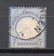 - ALLEMAGNE N° 23 Oblitéré - 7 K. Bleu 1872 (gros écusson Sur L'aigle) - Cote 90,00 € - - Oblitérés
