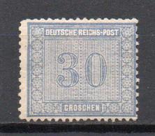 - ALLEMAGNE N° 27 Neuf * - 30 P. Bleu 1872 - Cote 200,00 € - - Unused Stamps