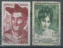 France N° 866 Et 875  Obl - Used Stamps