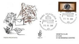 Fdc Venetia 2008: PRIORITARIA Euro 0.80 ; Viaggiata; AF - F.D.C.