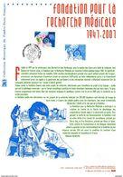 """(Prix à La Poste = 5 €) Sur """" FONDATION POUR LA RECHERCHE """" Sur Document Philatélique Officiel De 2007 N° YT 4106  DPO - Medicina"""