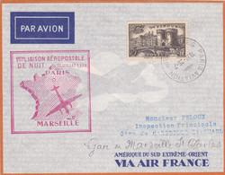FRANCE 2 Lettres 1937/38 Dont Une Signée Par Le PILOTE - Luchtpost