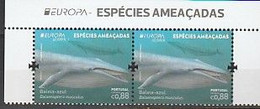 Portugal ** & CEPT Europa Azoren, Endangered Species, Blue Whale, Balaenoptera Musculus 2021 (77686) - Unused Stamps