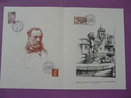 Encart Folder Louis Pasteur Congrès Don Du Sang Blood Giving Dole 39 Jura 1971 - Louis Pasteur
