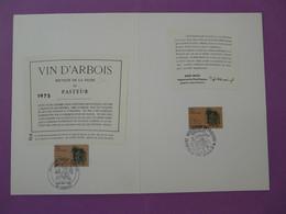 Encart Commemoratif Folder Louis Pasteur Vaccination Arbois Dole 39 Jura 1985 - Louis Pasteur