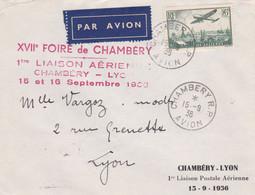 FRANCE 2 Lettres 1936 Et 1948  Dont AEROPOSTALE AIR FRANCE - Luchtpost