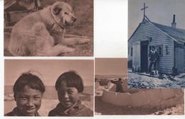 Lot De 4 CPA D'AMERIQUE : Missions : Igloo, Chien, Jeunes Esquimaux Chapelle Alaska. - Ed. Propagation Foi à Lyon - - Non Classificati