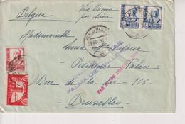 Palma De Mallorca Par Avion Jusque A Rome A Belgica Brussels Bruxelles   CONGRESO NACIONAL  Guerra Civil Española ESPAÑA - 1931-50 Covers