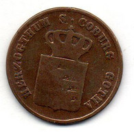 GERMAN STATES - SAXE-COBURG-GOTHA, 3 Pfennig, Copper, Year 1834, KM #C86 - Petites Monnaies & Autres Subdivisions