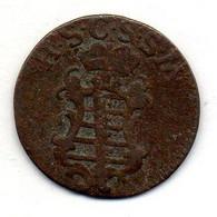 GERMAN STATES - SAXE-COBURG-SAALFELD, 1 1/2 Pfennig, Copper, Year 1799, KM #112 - Petites Monnaies & Autres Subdivisions