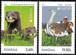 Europa Cept - 2021 - Romania, Rumenien - 1.Set - (Wildlife) ** MNH - 2020