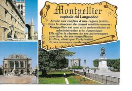 34 MONTPELLIER Cpm Multivues - Montpellier