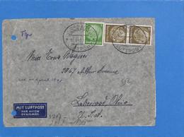 Allemagne Reich 1941 Lettre Par Avion De Danzig Aux États-Unis, Avec Censure (G2157) - Storia Postale