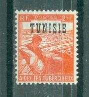 TUNISIE - N° 299** MNH LUXE SCAN DU VERSO TIMBRES DE FRANCE SURCHARGES. - Ongebruikt