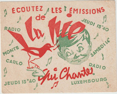 """Buvard - RADIO Monte Carlo  """" Qui Chante """" - R"""