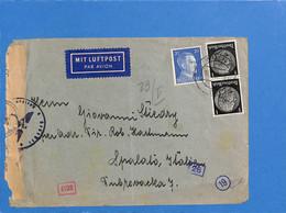 Allemagne Reich 1942 Lettre Par Avion De Wien à Spalato (Occupation Italienne), Avec Censure (G2173) - Lettres & Documents