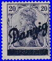 Dantzig 1920. ~ YT 28* - 20 P. Germania Surchargés - Danzig