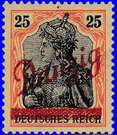 Dantzig 1920. ~ YT 29* - 25 P. Germania Surchargés - Danzig