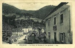 7 Goumois Le Pont, La Douane Et Vue Générale Lévy Et Neurdein Réunis Paris écrite Du Village En 1936 - Altri Comuni