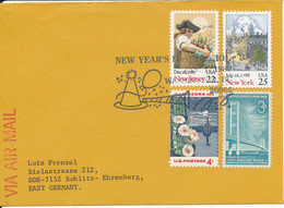 USA Cover With Special Postmark New Year - Brieven En Documenten