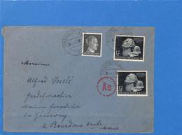 Allemagne Reich 1942 Lettre De Strassburg à La France, Avec Censure (G2182) - Storia Postale