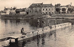 """¤¤  -   SAINT-AIGNAN-sur-CHER    -  Baignade Sur Le Cher  -  Le """" Grand Hôtel """" Maison """" BOILEAU - COUVRA """"   -  ¤¤ - Saint Aignan"""