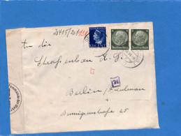 Allemagne Reich 1939 Frais De Port Mixte Pays-Bas Allemagne, Avec Censure  (G2184) - Storia Postale