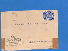 Allemagne Reich 1940 Lettre De Berlin à Téhéran - Iran, Avec Censure  (G2191) - Storia Postale