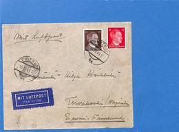 Allemagne Reich 1943 Lettre Par Avion De Wien à La Finlande, Avec Censure  (G2194) - Lettres & Documents