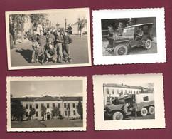 120621 - 4 PHOTOS 1950  AUTRICHE TYROL INNSBRUCK Konrad Kasern - Militaria Carserne Jeep Dodge 6x6 Avec SCR 183 Camion - Innsbruck